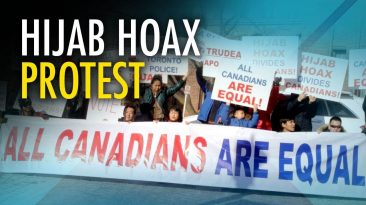 "Chinese Canadians protest #HijabHoax: ""CBC fake news, Rebel Media real news!"""