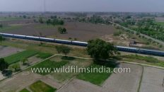 Train near India-Pakistan border in Punjab : Wagah and Attari
