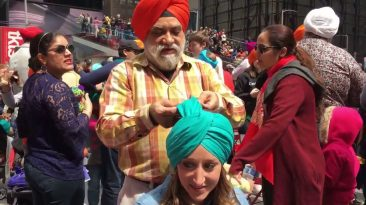 when 8000 turban ties to people of New york by sikhs time square